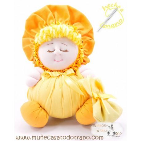 La Buñuela Amarilla - Muñeca de trapo - 23 cm