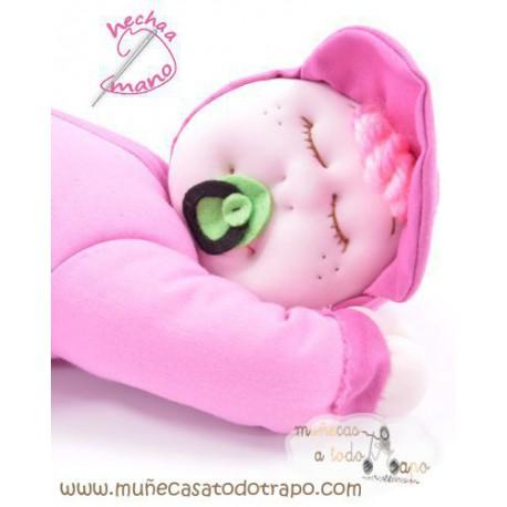 Siestina Rosa - Muñeca de trapo - 37 cm