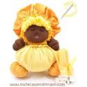 Black cloth doll the yellow Buñuela - 23 cms