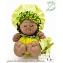 Black doll the Bigfoot Buñuela - 23 cm