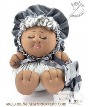 Cloth doll the Buñuela Bigfoot - 23 cm