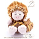 Rag doll in brown fabric the Bigfoot Buñuela - 23 cm