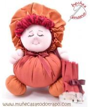 Maroon rag doll the  Buñuela - 23 cm