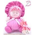 La Buñuela Rosa - Muñeca de trapo - 23 cm