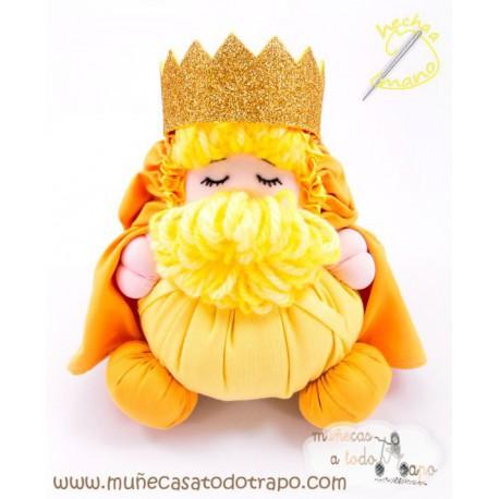 Muñeco Rey Mago Melchor - 23 cm