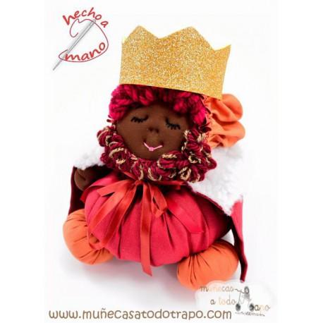 Muñeco Rey Mago Baltasar - 23 cm