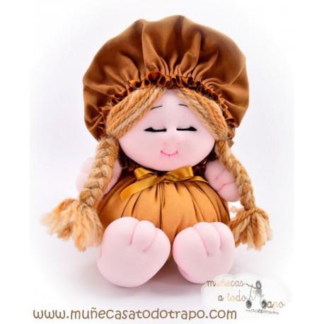 Muñeca de trapo - La Buñuela Trencitas - 23 cm