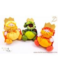 Reyes Magos - Muñecos de trapo - 23 cm