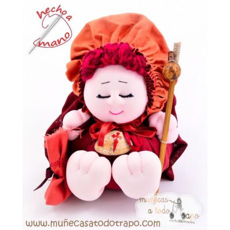 Muñeca de trapo Peregrina Camino de Santiago - 23 cm