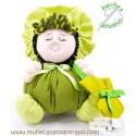 Green colth doll the Buñuela - 23 cm