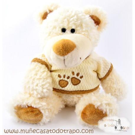 Muñeco de Peluche Oso Suku Blanco- 45 cm.