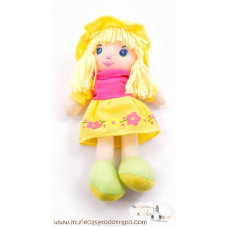 Muñeca Nanda  -  Muñecas de trapo Waldorf - 25 cm