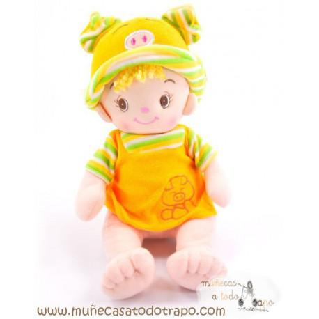 Muñeco de trapo - Colás amarillo - 35 cm.