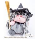 The gray witch rag doll - The Buñuela Brujita - 23 cm.