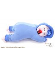 Blue Siestín - Rag doll for infants - 37 cm
