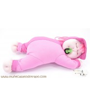 Rag doll for babies - Siestina pink - 37 cm