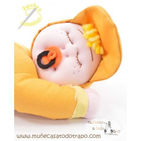 Siestina Amarilla - Muñecas de trapo - 37 cm