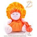 La Buñuela Naranja Bigfoot - Muñeca de trapo - 23 cm