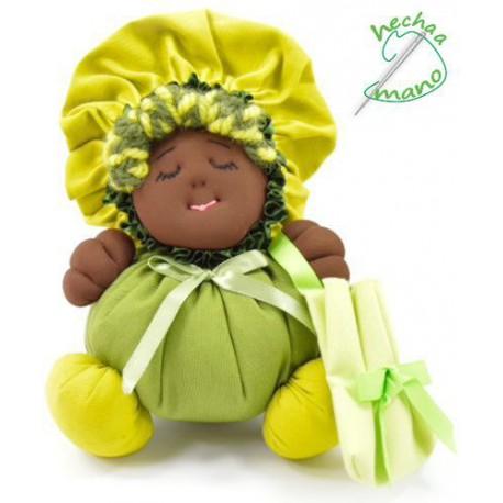 La Buñuela Verde - Muñeca de trapo negra - 23 cm