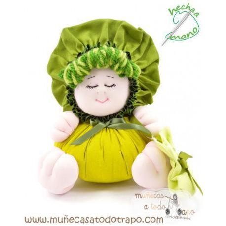 La Buñuela Verde Bigfoot - Muñeca de trapo - 23 cm