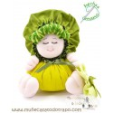 The Bigfoot green rag doll the Buñuela - 23 cm