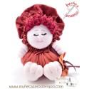 Maroon cloth dool the Bigfoot Buñuela - 23 cm