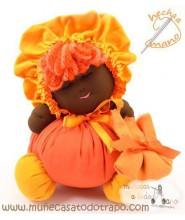 Black cloth doll  the Buñuela - 23 cm