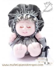 Bigfoot gray rag doll - 23 cm