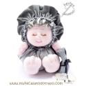 La Buñuela Gris Bigfoot - Muñeca de trapo - 23 cm