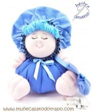 La Buñuela Azul Bigfoot - Muñeca de trapo - 23 cm