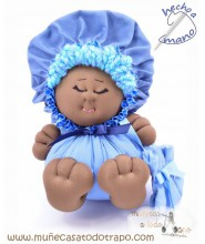 Rag doll the blue Bigfoot Buñuela - 23 cm