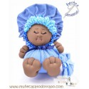 La Buñuela Azul Bigfoot - Muñeca de trapo negra - 23 cm