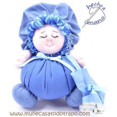 La Buñuela Azul - Muñeca de trapo - 23 cm