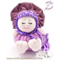 Lilac doll the Buñuela Bigfoot - 23 cm