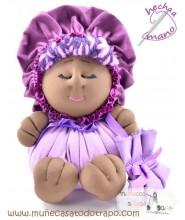 Black doll the Buñuela Bigfoot - 23 cm