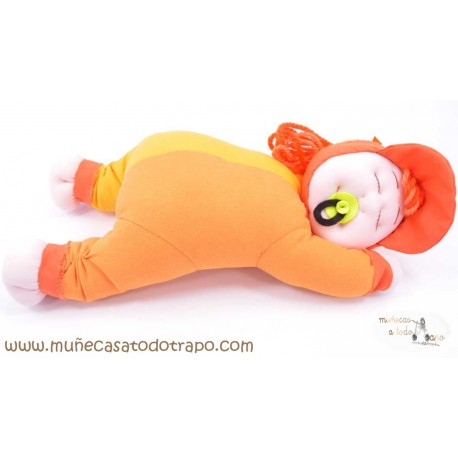 Siestina Naranja - Muñeca de trapo - 37 cm