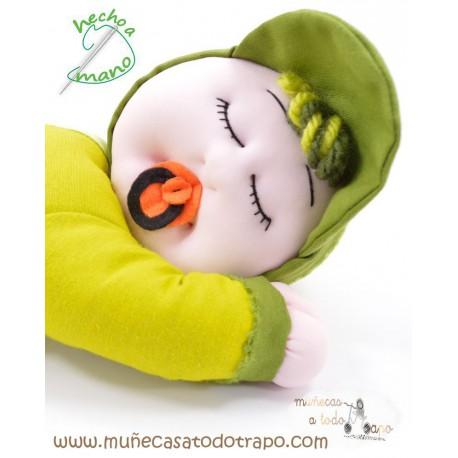 Siestín Verde - Muñecos de trapo - 37 cm