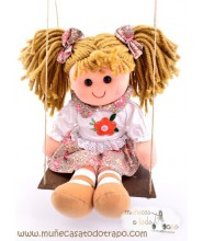 Waldorf rag doll with swing - Lina - 35 cm