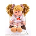 Waldorf rag doll with swing - Lina - 35 cm