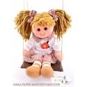 Muñeca de trapo con Columpio - Lina - Waldorf - 35 cm