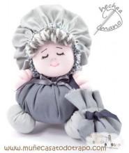 La Buñuela Gris - Muñeca de trapo - 23 cm