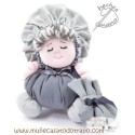 Cloth doll the gray Buñuela - 23 cm