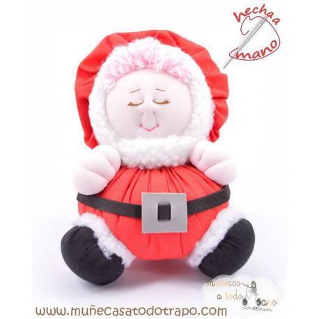 Mom Claus rag doll - Christmas Dolls The Buñuelas