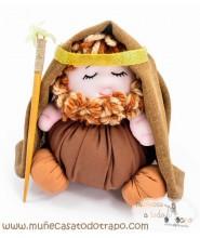 Muñeco de trapo San José - 23 cm