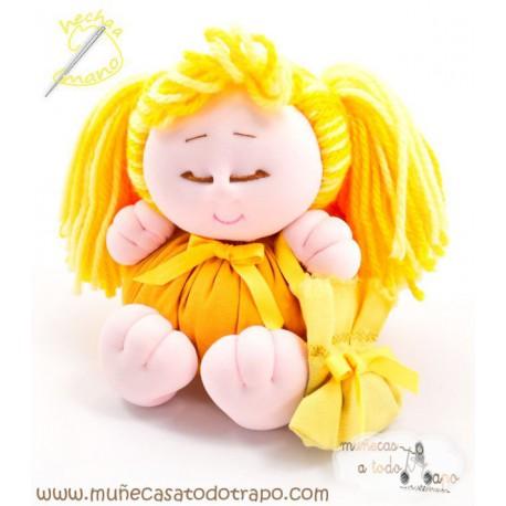 Muñeca de trapo - La Buñuela Coletitas - 23 cm