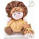 Brown rag doll the Buñuela - 23 cm