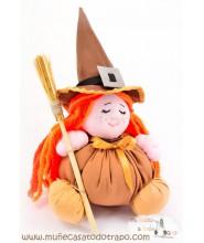 Witch rag doll the Buñuela Brujita - 23 cm.