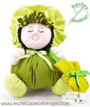 La Buñuela Verde - Muñeca de trapo - 23 cm