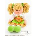 Muñeca de trapo Waldorf Lina verde - 35cm.