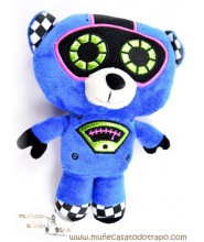 Teddy bear robot in black and blue - 25 cm.
